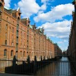 Historic Speicherstadt made of old bricks — Stock Photo