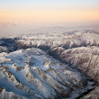 Beautiful view from the aircraft to the mountains in Tashkent, c — Stock Photo #5619566