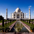 White marble Taj Mahal in India - Stock Photo
