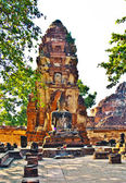 Temple of Wat Mararat in Ayutthaya near Bangkok, Thailand — 图库照片
