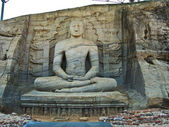Dying buddah in Gal Vihāra in the ancient capital Polonnaruwa, — Stock Photo