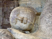 Dying buddah in Gal Vihāra in the ancient capital Polonnaruwa, — Stock Photo