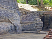 Feet of the reclining Buddha — 图库照片
