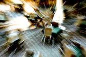 Stoelen in het park met extreme inzoomen expressionistische licht — Stockfoto