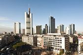 View to skyline of Frankfurt with Hauptwache — Stock Photo