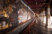 Famous wall paintings in the inner Grand Palace — Stock Photo