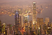 Hong kong vista desde el pico victoria — Foto de Stock