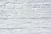 Vecchi mattoni dipinti di bianchi — Foto Stock