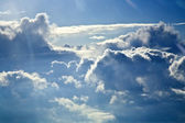 Sky with clouds from above — Stock Photo