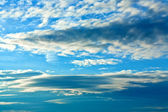 Blue sky with clouds — Stock fotografie