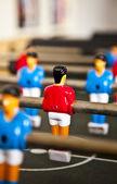 Jogador de futebol no vestido azul — Foto Stock