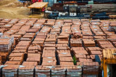Red bricks on building site at Kowloon — Stock Photo