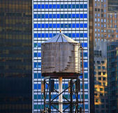 Old wooden water tower — Foto Stock