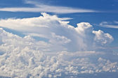 Puffy white cloud with blue sky — Stock Photo