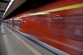 Al llegar a la estación de tren — Foto de Stock