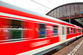Train leaves the station — Stock Photo