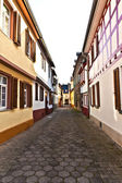 Medieval street with half-timbered houses — Stock Photo