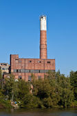 Old abandoned industrial building — Stock Photo