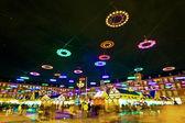 Illumination in Madrids Christmas market — Stock Photo