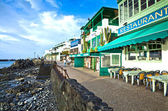 Promenade of scenic Playa Blanca — Stock Photo