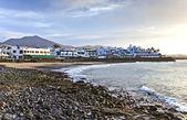 Promenade of scenic Playa Blanca — Stock Photo