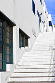 Stairs downtown in the old part of the harbor town — Stock Photo