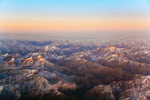 Beautiful view from the aircraft to the mountains in Tashkent, china and Ki — Stock Photo