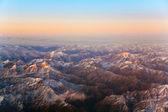 タシケント、中国および ki の山中に航空機からの美しい眺め — ストック写真