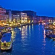 Canale Grande in Venice by night — Stock Photo