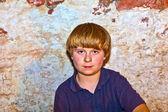 一个可爱的小男孩的肖像 — 图库照片