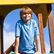 Portrait of happy teenager at a playground — Stock Photo #5630148