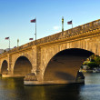 Stock Photo: London Bridge in Lake Havasu, old historic bridge rebuilt with o