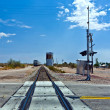 Railroad crossing at route  95 near the village Vidal - Stock fotografie