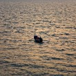 Fishermen with rod fishing from the boat — Stock Photo #5638029