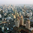 View across Bangkok skyline showing office blocks and condominiu — Stock Photo #5638647