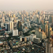 Stock Photo: View across Bangkok skyline showing office blocks and condominiu