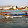 In the boat at the river Mae Nam Chao Phraya in Bangkok — Stock fotografie