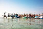 Fisherboats in the harbor in Koh Samet, Thailand — Stock Photo