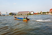 In the boat at the river Mae Nam Chao Phraya in Bangkok — Stockfoto