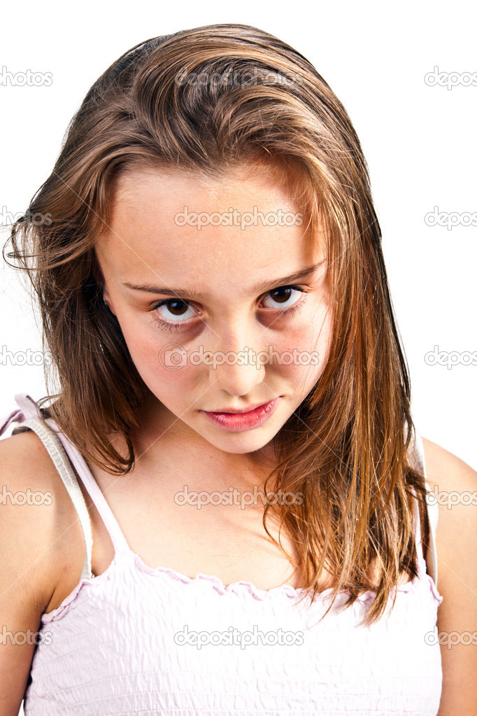 Portrait of cute young teenage girl stock photo for Cute teenager girls