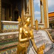 A kinaree, a mythology figure, is watching the temple in the Grand Palace — Stock Photo