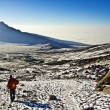 Climbing Mount Kilimanjaro, the highest mountain in Africa (5892m) — Stock Photo #5651313