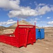 Loading platform for lorry in volcanic area — Stock Photo