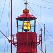 Lighthouse ship in harbor — Stock Photo #5652218