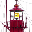 Lighthouse ship in harbor — Stock Photo
