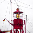 Lighthouse ship in harbor — Stock Photo #5652232