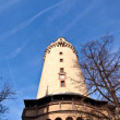 Famous Eschesheimer Turm in Frankfurt - Stock Photo