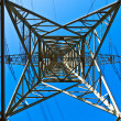 High voltage tower on a background with sky — Stock Photo