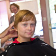 Young boys at the hairdresser — Stock Photo #5656759