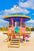 在白沙滩上南迈阿密 beachlife — 图库照片